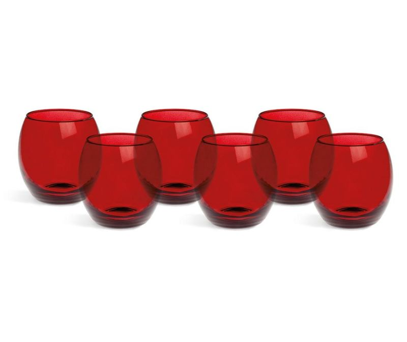 Set 6 kozarcev Corinto Red 405 ml