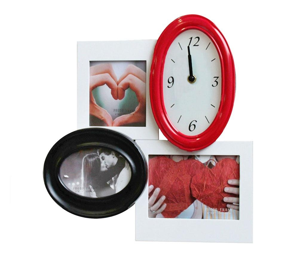 Zidni sat s 3 okvira za slike Class