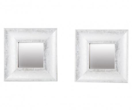 Sada 2 zrkadiel Olympia Silvery