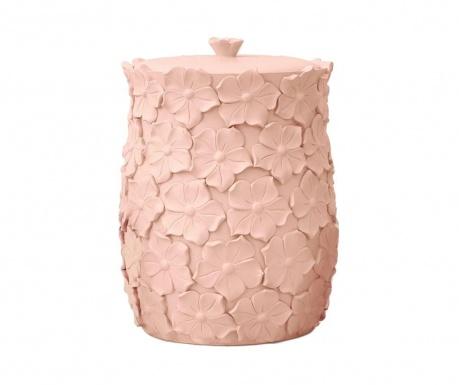 Odpadkový kôš s vekom Floralis Pink
