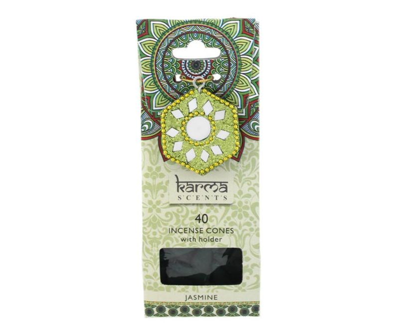 Set 40 mirisnih konusa i držač Karma Jasmine