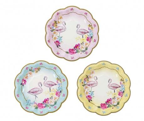 Truly Flamingo 12 db Egyszer használatos tányér