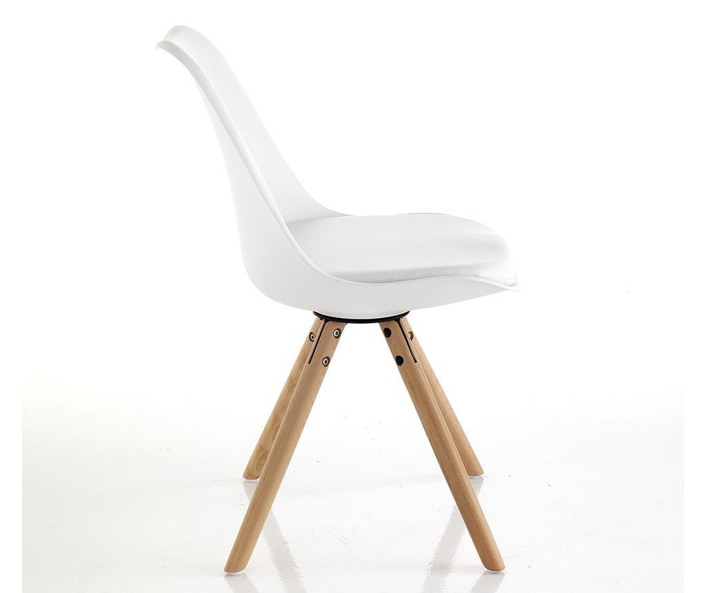 Sada 2 židlí Kiki White