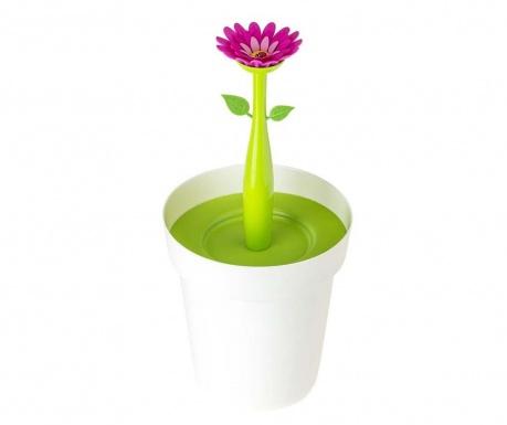 Κάδος απορριμάτων με καπάκι Flower Power White 3 L