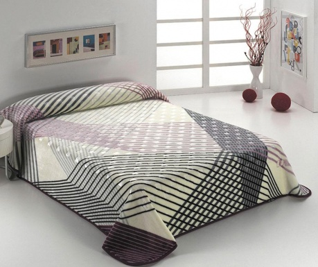 Deka Luxury Geometric Purple 220x240 cm
