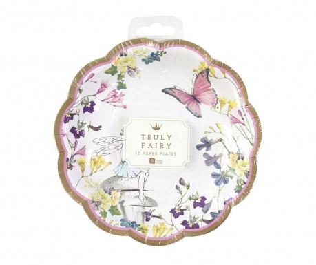 Set 12 tanjura za jednokratnu upotrebu Fairy