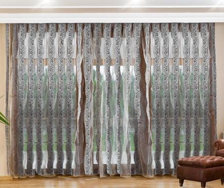 Záclona Alberta Grey 200x260 cm