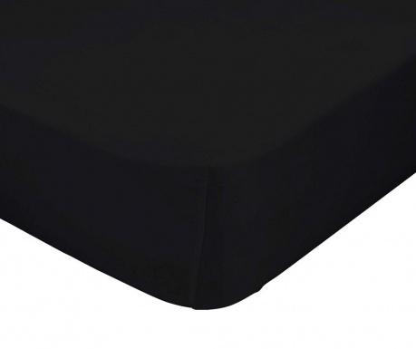 Plahta s elastičnom gumicom Basic Black 90x200 cm