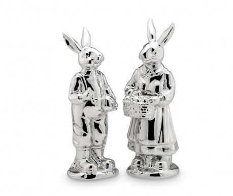 Rabbit Pair Height 2 darab Dekoráció
