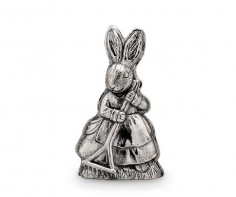 Decoratiune Bunny Girl with Rake