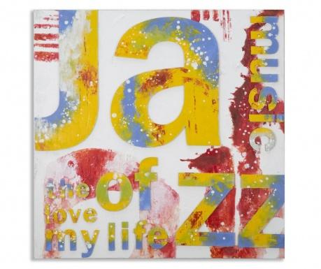 Πίνακας I Love Music 100x100 cm