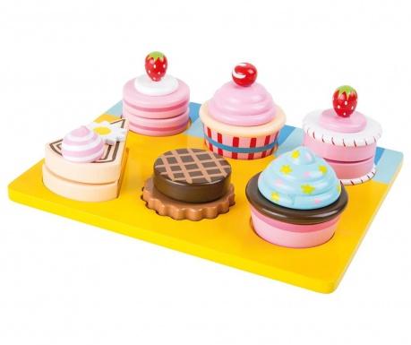 Set pladanj i kolači igračke Bakery