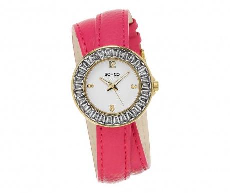 Ženska ročna ura So&Co SoHo Baguette Pink
