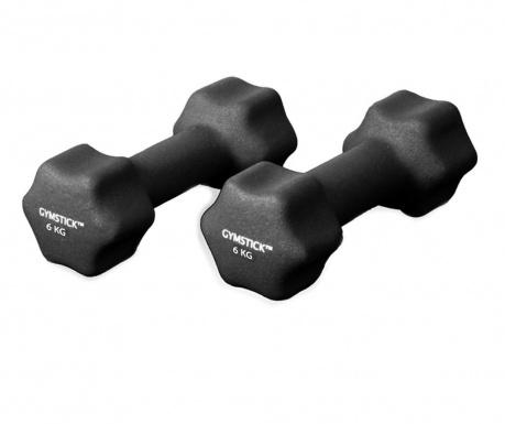 Set 2 jednoručna utega Dwali Black 6 kg