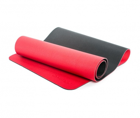 Fitness prostirka Pro Yoga Red Black 61x180 cm