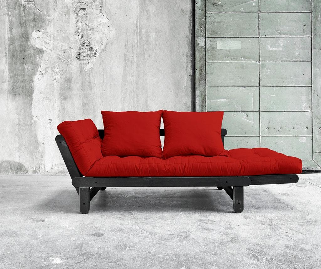 Sofa extensibila Beat Black and Red