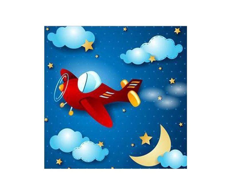 Tablou Night Plane 45x45 cm