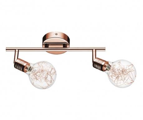 Nástenné svietidlo Bulbs Double Copper  Transparent