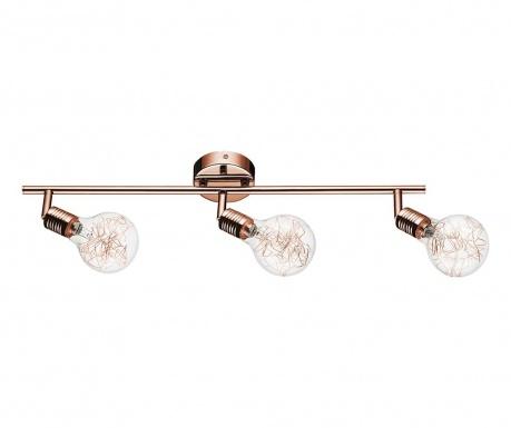 Nástenné svietidlo Bulbs Triple Copper  Transparent