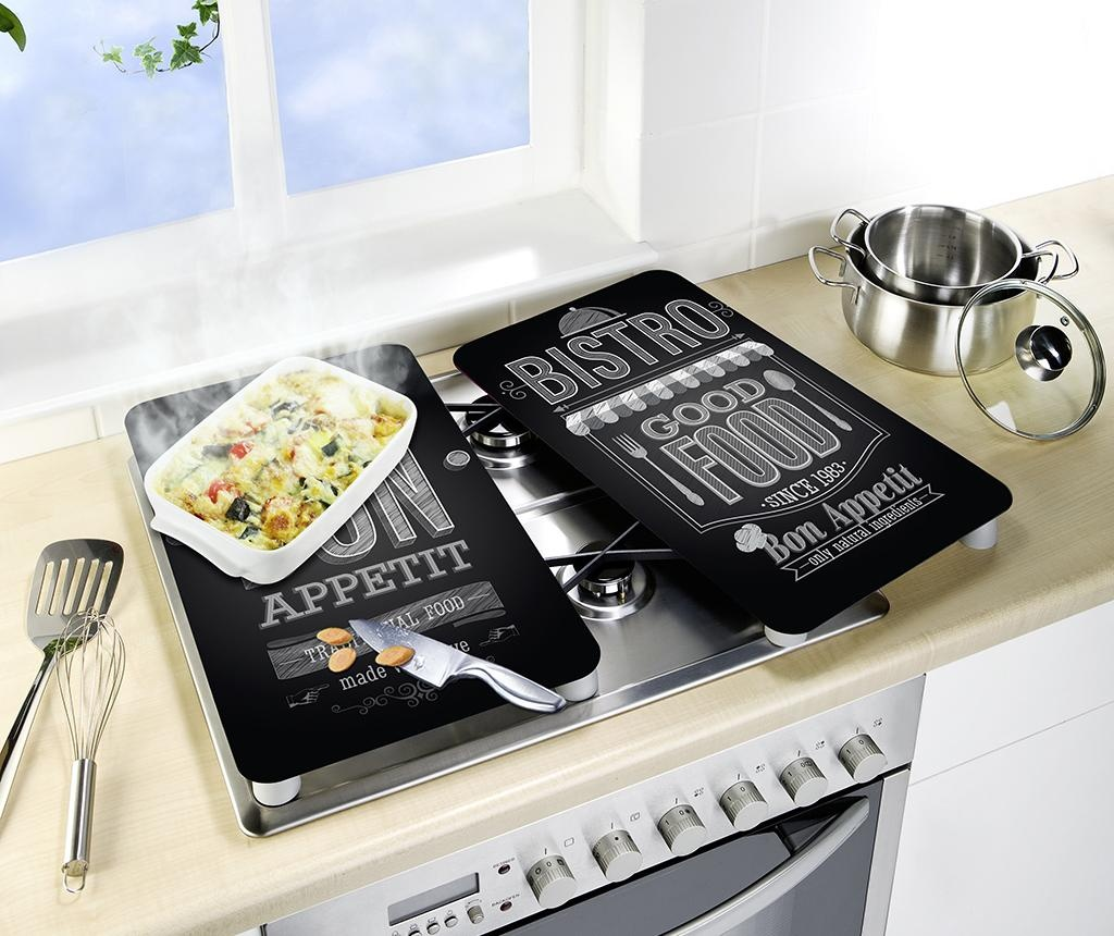 Set 2 zaščitnih podlog za kuhališča Bistro