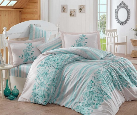 Спално бельо King Satin Supreme Serena   Turquoise