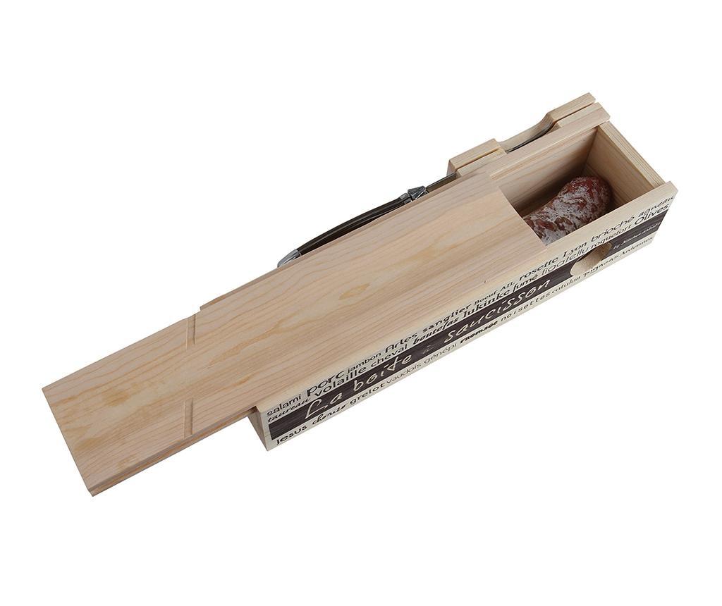 Set cutit si cutie pentru depozitare mezeluri Fresh