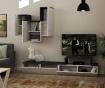 Tirtil Beige Anthracite TV Komód és  felfüggeszthető szekrény