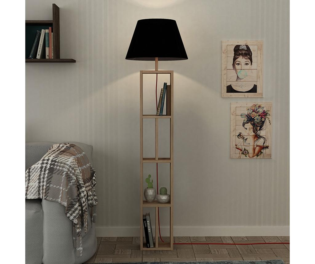 Lampadar Giorno Natural Black