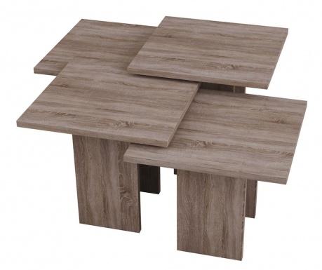 Zestaw 4 stolików do kawy Grade Dark Oak