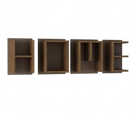 Zestaw 4 półek ściennych Home Brown Light Mocha