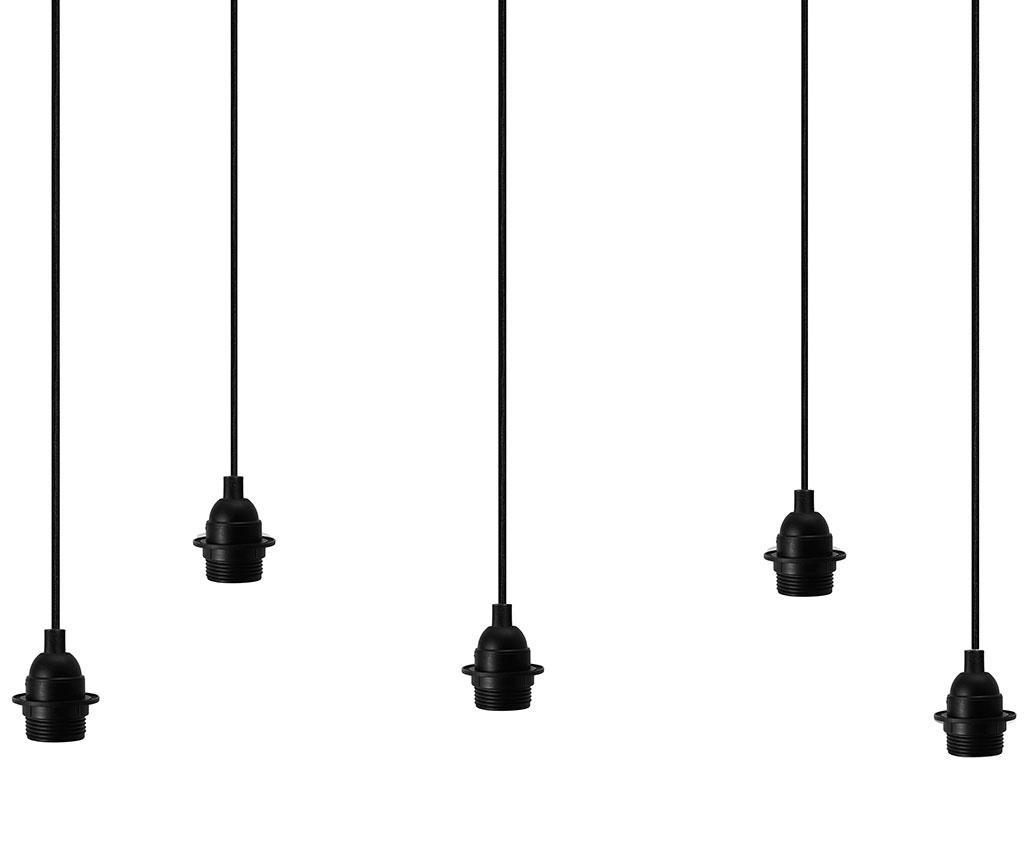 Stropna svetilka Uno Five Black