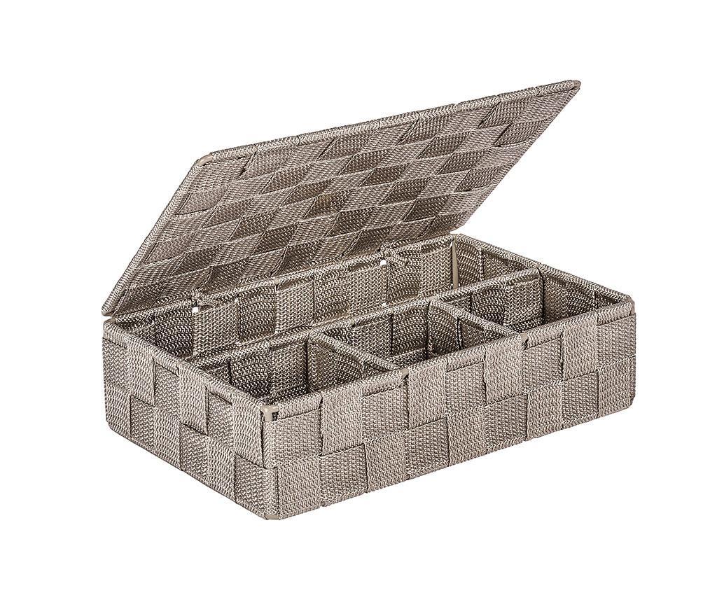 Škatla s pokrovom Adria Taupe Long