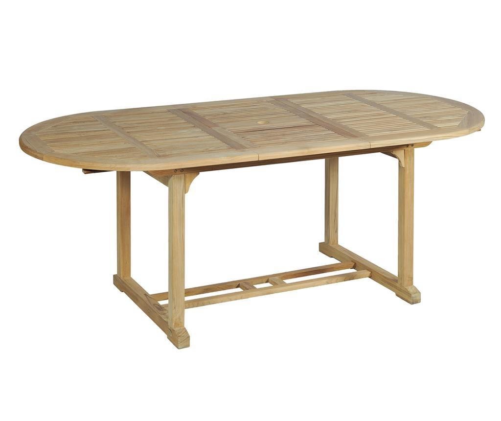 Solo Oval Kihúzható kültéri asztal