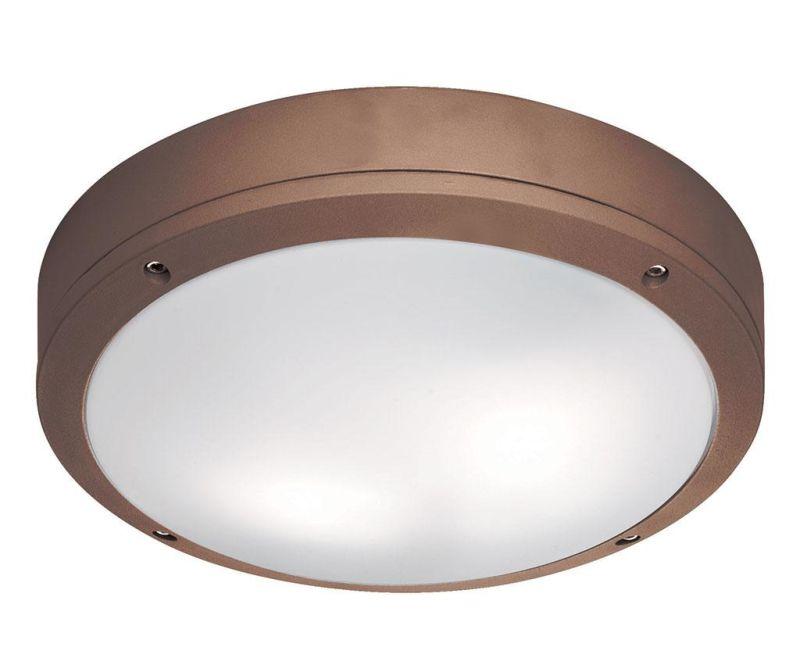 Zunanja stropna svetilka Leros Round Brown