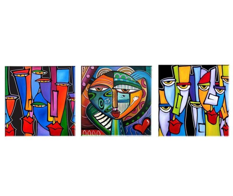 Set 3 tablouri Picasso 30x30  cm