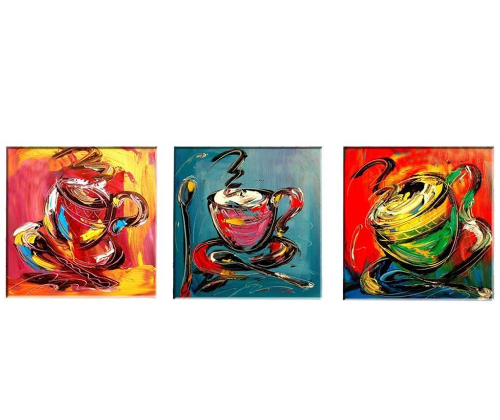 Set 3 slike Coffee 30x30 cm