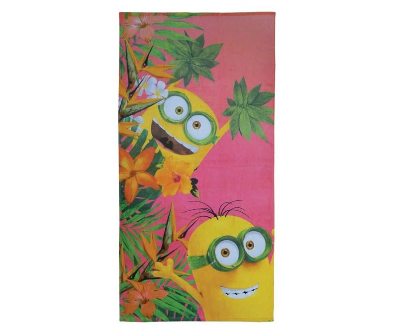 Kupaonski ručnik Minions Flowers 75x150 cm