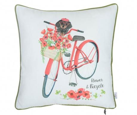 Obliečka na vankúš Flower and Bicycle 43x43 cm