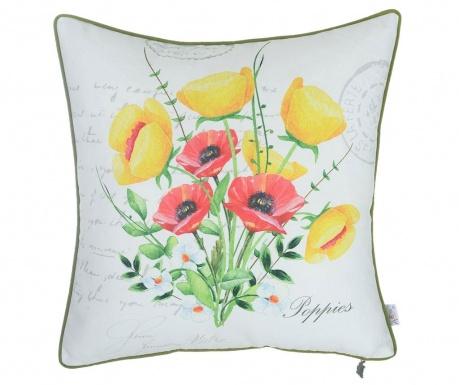 Obliečka na vankúš Red and Yellow Poppies 43x43 cm
