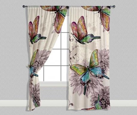 Sada 2 závesov Butterflies 140x240 cm