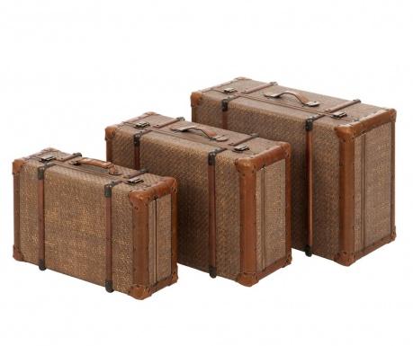 Sada 3 dekoračné kufre Voyage