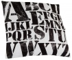 Okrasna blazina Letters Pattern 45x45 cm
