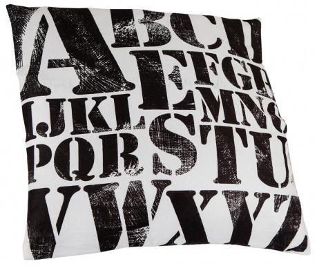 Dekorační polštář Letters Pattern 45x45 cm
