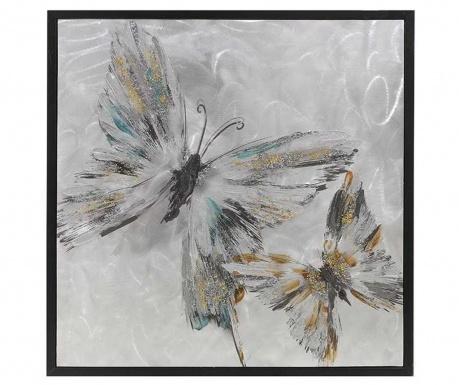 Butterfly Joy Festmény 60x60 cm