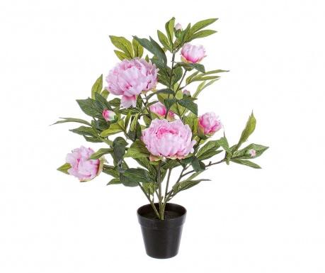 Peach Pink Poeny Művirág virágcserépben
