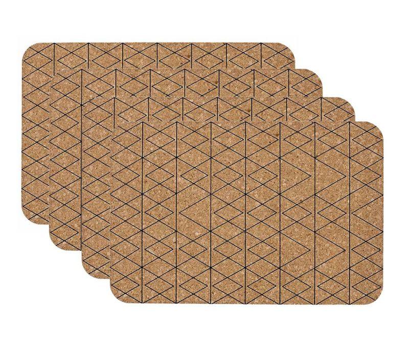 Set 4 individualuri Mali Black 30x45 cm