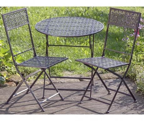 Sada stôl a 2 exteriérové skladacie stoličky Gera