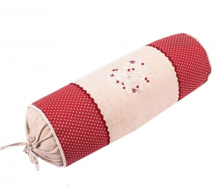 Perna decorativa Heart Round Red 16x40 cm