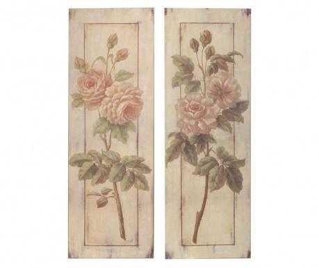 Σετ 2 πίνακες Flower Garden 25x76 cm