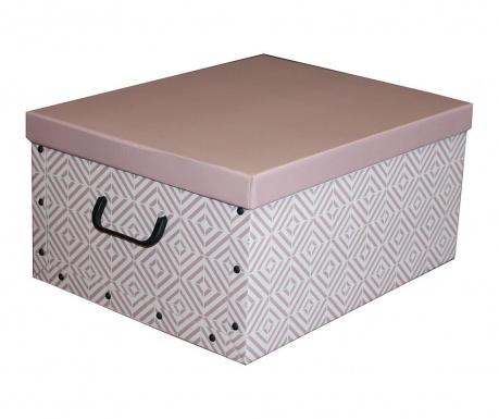 Skladovacia krabica s vekom Diamonds Rosa